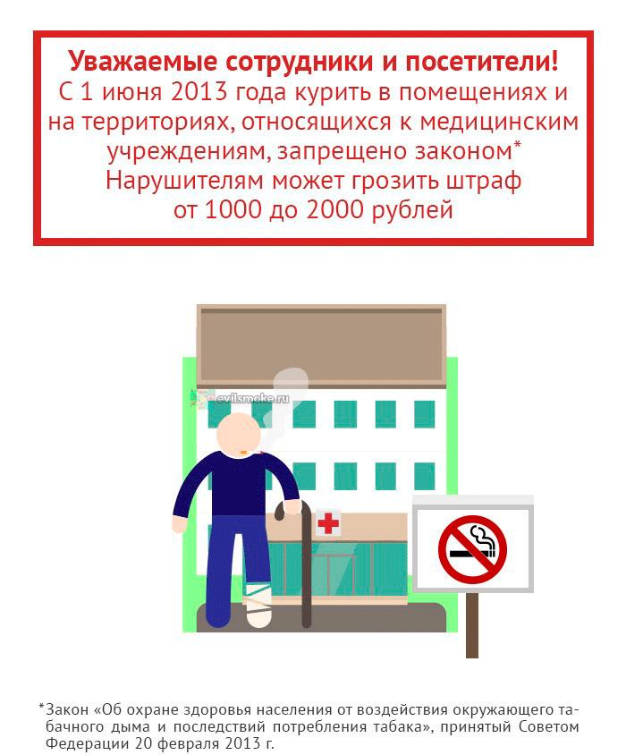 foto-ob'yavlenie-zapret-kureniya-v-med-uchrezhdeniyah