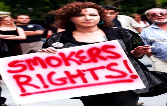 Фото - Активистка за права курильщиков
