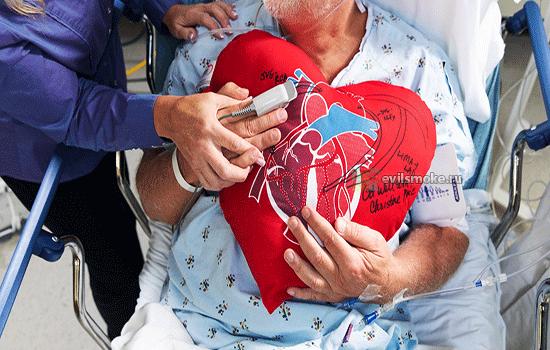 Фото - Подушка сердечка у пациента